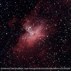 M16 Eagle Nebula (achrntatrps) Tags: m16 eaglenebula nébuleusedelaigle starqueennebula ngc6611 ic4703 sh249 rcw165 lbn67 cr375 mel198 ced159 piliersdelacréation pillarsofcreation thespire adlernebel säulenderschöpfung nightshot d5300 nikon photographe photographer alexandredellolivo dellolivo lachauxdefonds suisse nuit night nacht achrntatrps achrnt atrps radon200226 radon etoiles stars sterne estrellas stelle astronomie astronomy nicht noche notte suivi astrophotographie eosforastro halpha skywatcherquattro400 skywatchereq6rpro