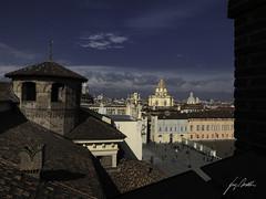 Greetings from Turin (Lumase) Tags: turin torino italy tourism city outlook palazzomadama duomo square piazzacastello lacittàmetropolitanaditorinovistadavoi