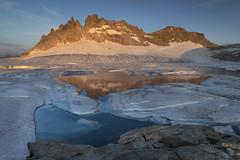 Blue ice at sunset - Gerenpass (Captures.ch) Tags: sommer summer abend abenddämmerung dusk evening sonnenuntergang sunset