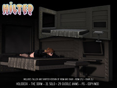 HILTED - Holodeck - The Dorm (HILTED) Tags: hilted cyber scifi holo holodeck dorm backdrop room bedroom bed chair furniture decor home garden boardwalk solo cuddle animations adult pg