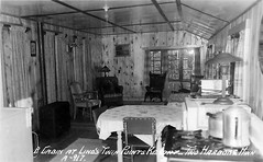 Twin Points Cabin Interior (WOODSHED Revisited) Tags: ionasbeach scientific natural area sna minnesota minn mn two harbors lake superior coast shore twin points resort lakeshore waves rhyolite felsite singing hotel cabin rocks boulders ancient lava flow precambrian historic iona lind john donate donation pink peach vintage postcard post card