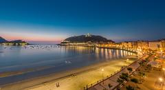 San Sebastian/Donostia (Basque Country) 3 (Henry De la Rivière-Aldridge) Tags: balcon sansebastian basque country bay donostia beach night saescape cityscape