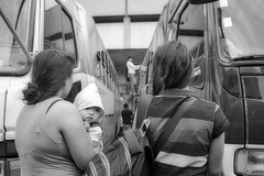Just checking (Beegee49) Tags: street people baby filipina buses transport public passengers blackandwhite monochrome sony a6400 bacolod city philippines asia women