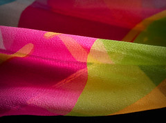 Silk Scarf (TuthFaree) Tags: macromonday scarf silk macro color complementarycolours hmm