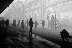 ...moving through the fog... (Utopia_Seeker73) Tags: fuji x100f fujix100f blackandwhite blackandwhitephotography monochromaticphotography classic noirphoto blackandgrey blackwhite bnw bnwlife black white classicphotography creative monochrome fujifilm ilovesydney sydneybnw artistic artphoto composition fineart monochromatic art fujilens 35mmstreetphotography fujixseries 35mm