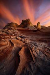 Dragon's Breath (Michael Bollino) Tags: sunset desert evening color sky clouds nature wildness wilderness outdoors remote sandstone geology light streaks