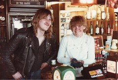 Carl Chatting Up The Boathouse Barmaid Chester May 1984 (clivepsmithmarch1960) Tags: boathouse chester cigarettes bensonandhedges