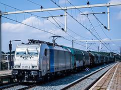 LINΞΛS 186 457-8 met shimmns @ Eindhoven (Avinash Chotkan) Tags: lineas bombardier traxx br186 trains cargo shimmns railpool