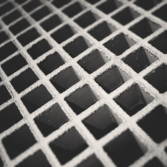 day 216 (Randomographer) Tags: project365 geometric square metal grid vent strong lines dof light shadow form shape 216 365 vii 2019