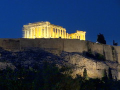 Acropolis.The Parthenon at Night (dimaruss34) Tags: newyork brooklyn dmitriyfomenko image sky greece athens acropolis parthenon nightsky night trees hill rock walls architecture ruins