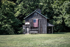 deep river county park. august 2019 (timp37) Tags: deep river county 2019 park august indiana barn sign american flag usa baseball field game
