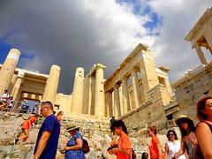 Acropolis. The Propylaea (dimaruss34) Tags: newyork brooklyn dmitriyfomenko image sky clouds greece athens acropolis architecture ruins propylaea people