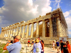 Acropolis. The Parthenon (dimaruss34) Tags: newyork brooklyn dmitriyfomenko image sky clouds greece athens acropolis parthenon colonnade people architecture ruins