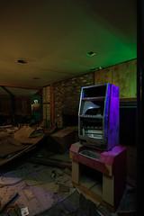 MILLS NOVELTY (Nocturnal Kansas) Tags: night nocturnal moon full led1 protomachines nevada casino gambling d800 nikon nightphotography lightpainting longexposiure