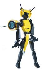 BIZIBOT, the mecha bee (Loysnuva) Tags: lego moc mech mecha monday loli idol system cute kawaii anime figure robot girl bionifigs loysnuva fembot toy bee bizibot flying