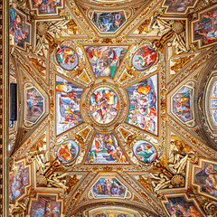 Ceiling Centered Square (ken mccown) Tags: church dome decoration paintings rome italy architecture