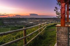 Horseshoe Canyon (Emin Cavalic) Tags: sunset railing outdoor landscape canyon alberta canada