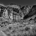 A Trail Towards Lower Burro Mesa (Black & White, BIg Bend National Park)