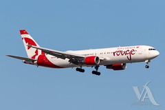 Air Canada Rouge B767-300 (C-GEOU).jpg (Vince Amato Photography) Tags: boeing b767300er trudeauinternationalairport cgeou commercialairliner aircanadarouge 763 b763 cyul canada montreal quebec rou rv yul