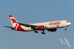Air Canada Rouge B767-300 (C-GHLK).jpg (Vince Amato Photography) Tags: boeing b767300er trudeauinternationalairport cghlk commercialairliner aircanadarouge 763 b763 cyul canada montreal quebec rou rv yul