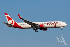 Air Canada Rouge B-767-300 (C-FIYE).jpg (Vince Amato Photography) Tags: boeing b767300er cfiye commercialairliner trudeauinternationalairport aircanadarouge 763 b763 cyul canada montreal quebec rou rv yul