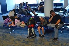 Team wipe (radargeek) Tags: airport charlotte clt nc northcarolina kid child children kids traveler travelers traveling sleeping