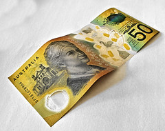 New 50 (Dennisbon) Tags: dennisbon canon eos 7d melbourne australia currency dollars 50 fifty mopeople close macro money