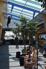 Rocking chairs and rock climbers (radargeek) Tags: btv burlington airport kid child children kids traveler travelers traveling vt vermont rockingchair