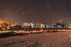 Clear, Chilly Night (southernspiritnr84) Tags: night gravel tracks train nightshot buildings railway photography star station trail bogangate nsw australia