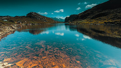 Beauty of Scotland (pboolkah) Tags: red scotland highlands canon canon5d canon5dmkiv lake loch reflections mountain sky clouds
