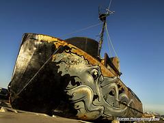 Inlet Keeper (Swanee 3) Tags: alaska homer homerspit rusty rust rusted rustic decay decaying rustyandcrusty rustyworld crusty boat ship patrickmaxcy art getolympus boatgraveyard