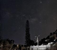 Star Adventurer (First Light) (wong_yewhoe) Tags: singapore seletar asia dark sky night stars tree pine lamp street house shadow horizon milkyway galaxy clouds haze staradventurer skywatcher