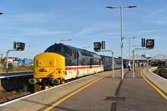 37419 - Great Yarmouth - 2P35 (richa20002) Tags: drs direct rail services intercity ic br large logo class 37 tractor thrash abellio greater anglia aga ga hellfire clag branch line norwich great yarmouth lowestoft wherry lines lhcs loco hauled service short set