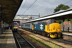 755418 & 37407 - Norwich - 2J78 & 2P24 (richa20002) Tags: drs direct rail services intercity ic br large logo class 37 tractor thrash abellio greater anglia aga ga hellfire clag branch line norwich great yarmouth lowestoft wherry lines lhcs loco hauled service short set 755 stadler