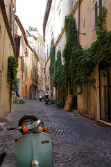 Roman Street (█ Slices of Light █▀ ▀ ▀) Tags: street roma scooter vi parione rione italy rome italia sony ii italie 羅馬 意大利 rxr rx1rm2 rx1rii stone europa europe cobble