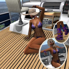 Floating cares away... (parisevermore) Tags: ghee thedarknessevent jessposes shinystuffs avaway earrings events fashion beachwear outfits fishnet bikini hat shoes