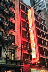 West 44th Street (erichudson78) Tags: usa nyc newyorkcity manhattan midtown west44thstreet néon neon red rouge sign architecture canoneos6d canonef24105mmf4lisusm urbanlandscape paysageurbain