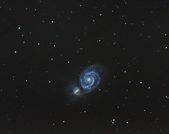 M51 new Edit (alexander_skaletz) Tags: night winter astro astrophotography nature photography astronomy dark sigma150600 sky space nightskys detail deepsky nikon d5300 nikond5300 sigma stars starcluster longexposure messier galaxy m51