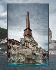 Piazza Navona (kinoalyse) Tags: travel travelphotography architecture photography destination city rain weather water fountain piazza navona rome italy lazio europe obelisk ancient bernini sculpture
