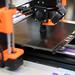 3D Drucker druckt kleine Figur