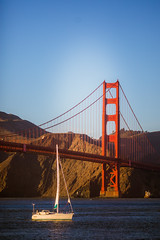 Old Fashioned Girlfriend (Thomas Hawk) Tags: california goldengatebridge sanfrancisco usa unitedstates unitedstatesofamerica boat bridge sailboat fav10 fav25 fav50 fav100