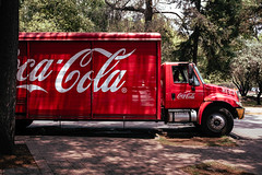 Cacola (Mechanized) Tags: cocacola truck red tree street mexico sunny