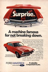 1972 Ford Maverick 2 & 4 Door Sedan Or Sporty Grabber USA Original Magazine Advertisement (Darren Marlow) Tags: 1 2 7 9 19 72 1972 f ford m maverick g grabber c car cool collectible collectors classic u s us usa united states a automobile v vehicle american america 70s