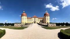 An Pano view of the Moritzburg castle (ANBerlin [Ondré]) Tags: old sky urban building castle apple nature architecture clouds rural germany landscape deutschland heaven alt saxony natur himmel wolken sachsen architektur historical schloss landschaft bauwerk gebäude extraordinary iphone historisch moritzburg ländlich 8plus iphotography anb030 iphonography ausergewöhnlich shotoniphone iphone8 trees sea panorama lake water fairytale see countryside wasser outdoor pov pano country struktur panoramic structure symmetry symmetrical sight bäume märchenhaft landleben sehenswürdigkeit symmetrie drausen pointofinterest view perspective blick perspektive blue historic national blau summer sommer light