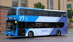 First Glasgow 33393 SK19EOD working on the 77 to Glasgow Airport. (Gobbiner) Tags: sk19eod firstglasgow adl glasgowairport e400mmc 33393 enviro firstgroup
