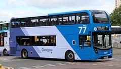 First Glasgow 33407 SK19ENX leaving Buchanan Bus Station. (Gobbiner) Tags: e400mmc adl firstglasgow sk19enx glasgowairport enviro 33407 buchananbusstation