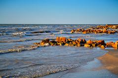 Sea of Azov. (denkuznets81) Tags: sea summer seascape sedovo shore sunrise stones waves morning donbass beach море азовскоеморе рассвет утро волны седово пляж берег донбасс