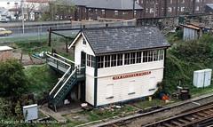 LMS New Brighton Station Signal Box (Wirral Railway RSCo 1888) 15th April 1988 (robinstewart.smith) Tags: lms wirral railway new brighton station signal box 1988 signalbox