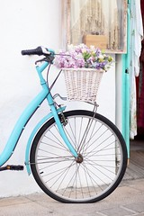 LVM: Bicicleta con cesta (AriCatalán) Tags: jackierueda juegolvm lvm cesta turquesa colorpastel flowers flores biciconcesta bici bike bicicle bicicleta