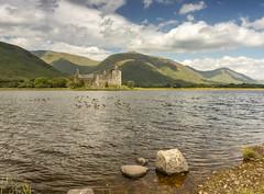 Kingdom Of The Stuck Duck (RichySum77) Tags: canon eos 80d landscape loch lake water birds mountain sky clouds rock rocks bay castle building duck